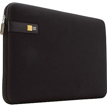 "Case Logic 14"" Laptop Sleeve, Black, 9 7/10""H x 13 1/2""W x 1 7/10D"
