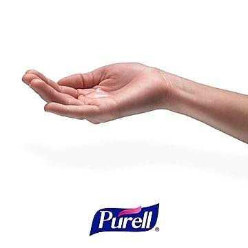 Purell Messenger ES6 Hand Sanitizer Floor Stand with Dispenser, Silver/White Panel(7306-DS-SLV)