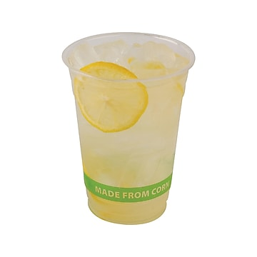 Eco-Products GreenStripe Cold Cups, 16 Oz., Transparent/Green, 50/Pack (EP-CC16-GS)